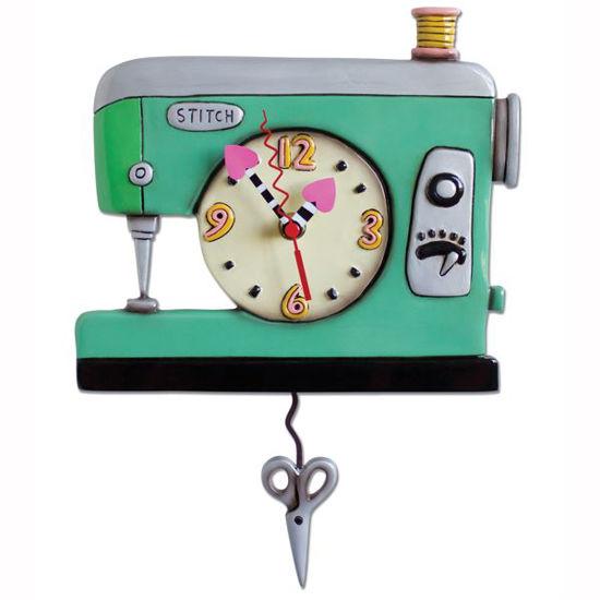 Stitch Sewing Machine Pendulum Clock by Allen Designs Studio