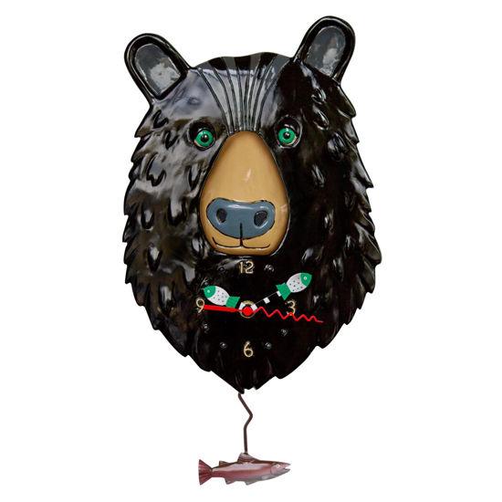 Burly Bear Pendulum Clock by Allen Designs Studio