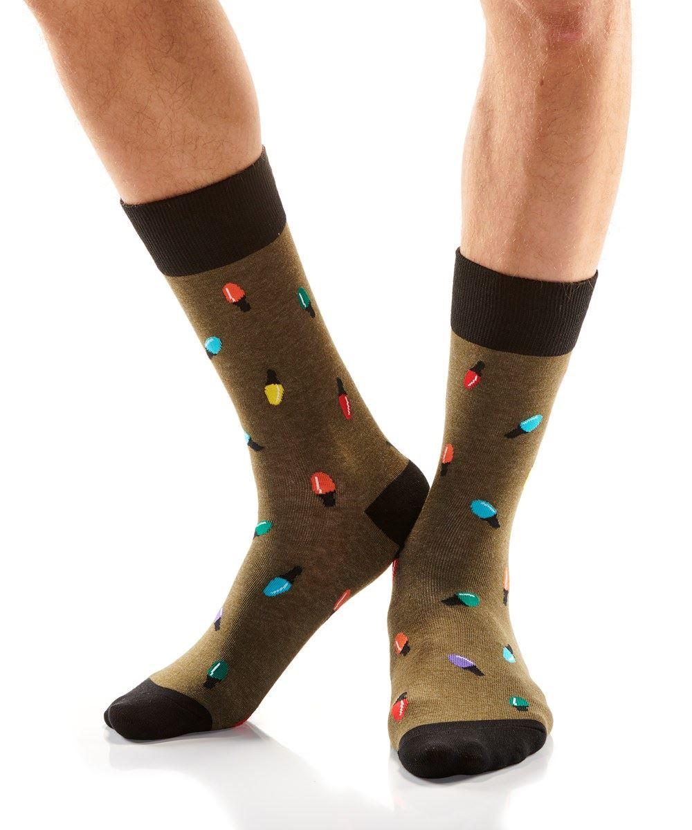 Mini Lights Men's Crew Socks by Yo Sox
