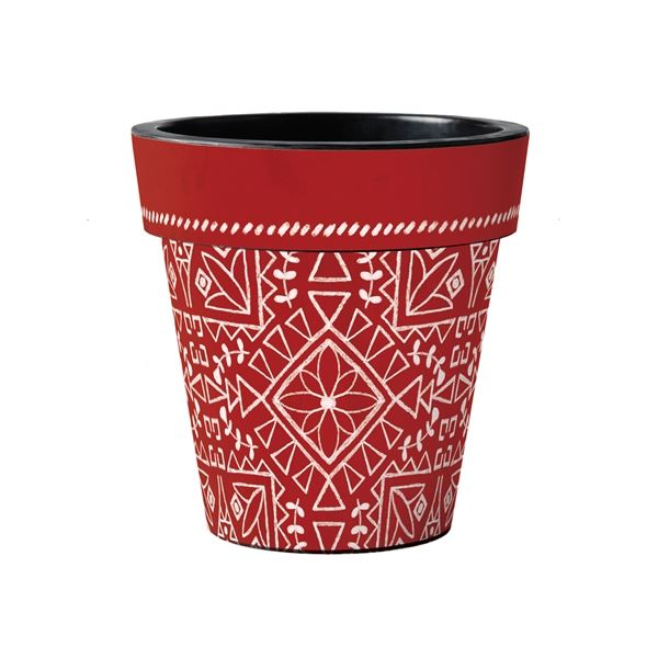 "Scandi Red 15"" Art Pot by Studio M"