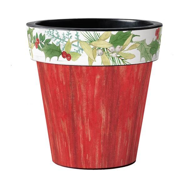 "Winterberry Red 18"" Art Pot by Studio M"