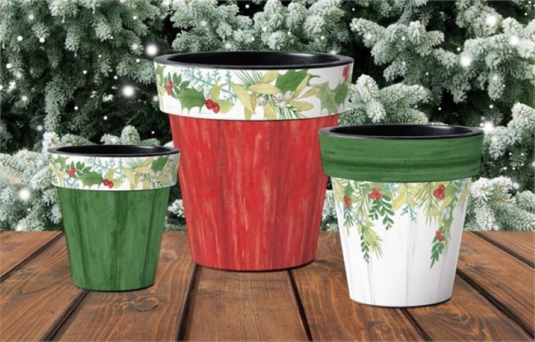 "Winterberry White 15"" Art Pot by Studio M"