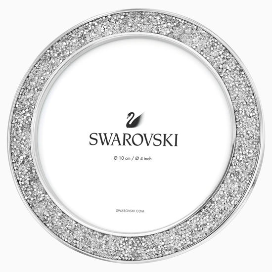 Round Silver Tone Picture Frame by Swarovski