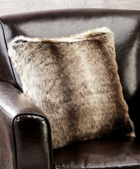 Faux Fur Decorative Cushion by Giftcraft