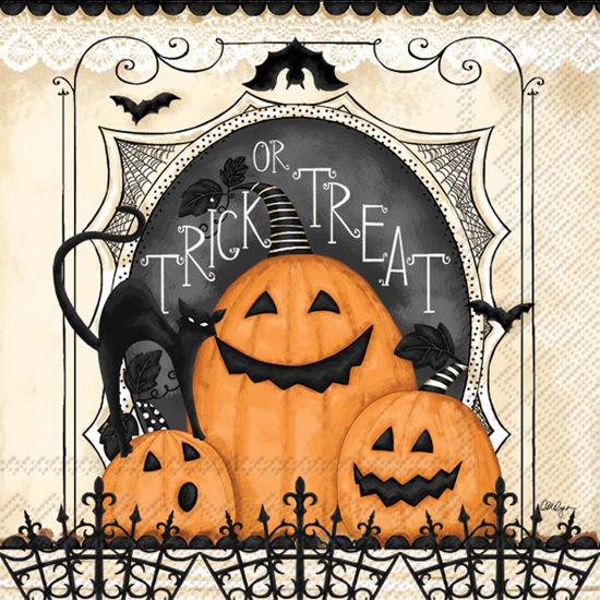 Trick or Treat Pumpkins Luncheon Napkin by Boston International
