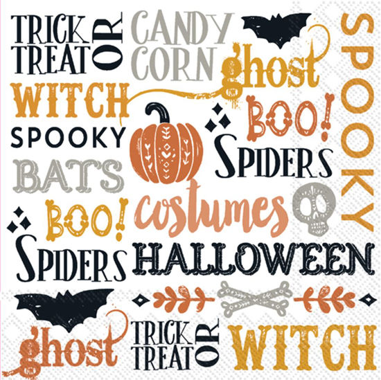 Halloween Words Luncheon Napkin by Boston International