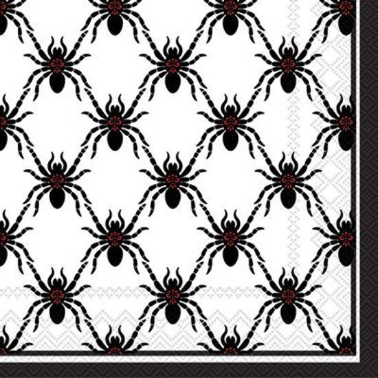 Black Spiders Luncheon Napkin by Boston International
