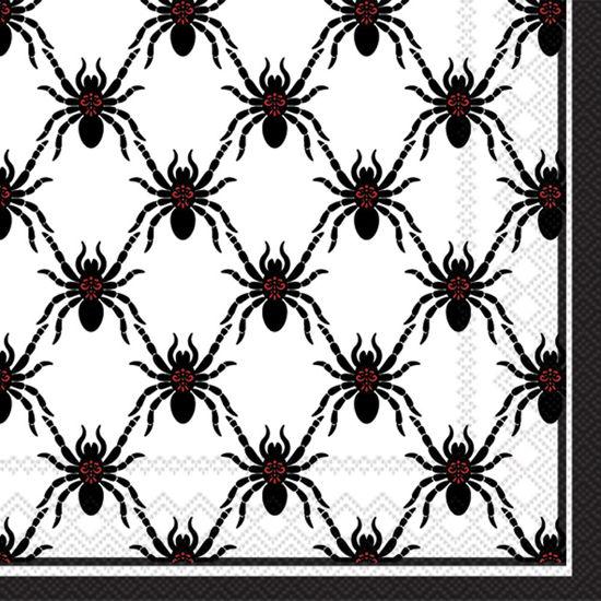 Black Spiders Cocktail Napkin by Boston International