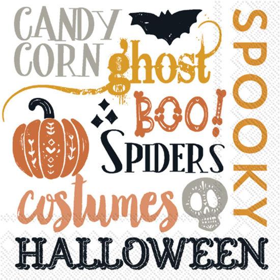 Halloween Words Cocktail Napkin by Boston International