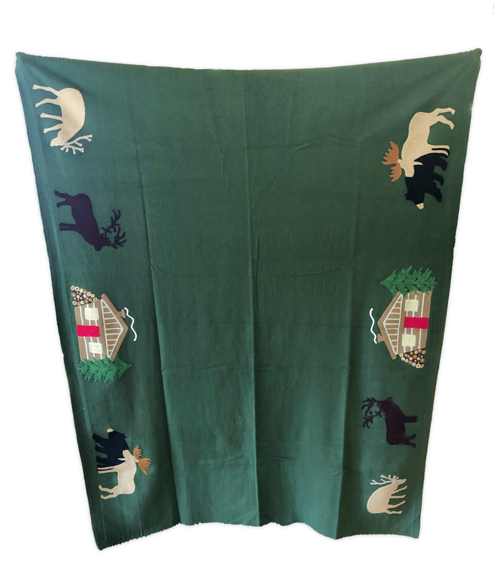 Hunting Cabin Wool Blanket by Chandler 4 Corners