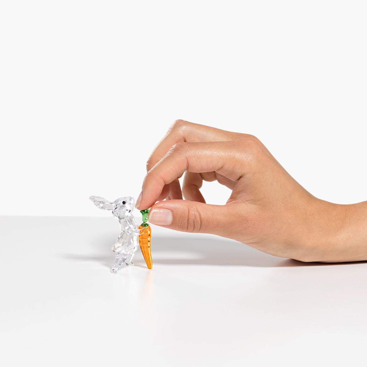 Rabbit with Carrot by Swarovski