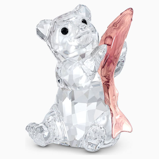 Bear with Fish by Swarovski