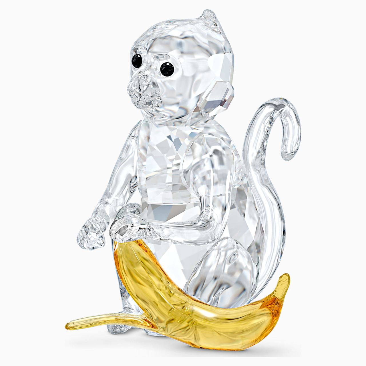 Monkey with Banana by Swarovski