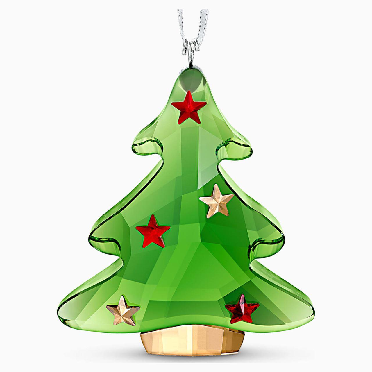 Joyful: Christmas Tree, Green by Swarovski