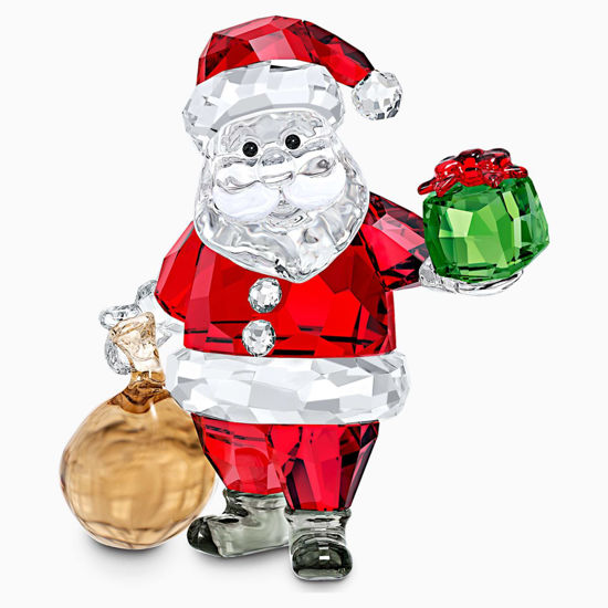 Santa Claus with Gift Bag by Swarovski