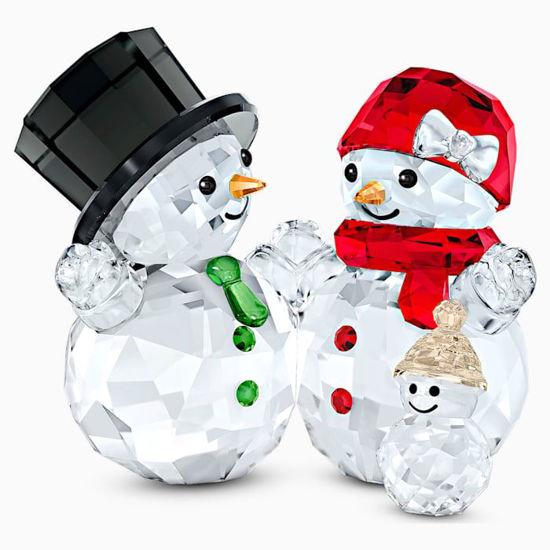 Snowman Family by Swarovski