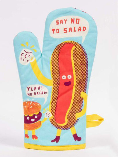 Say No To Salad Oven Mitt by Blue Q