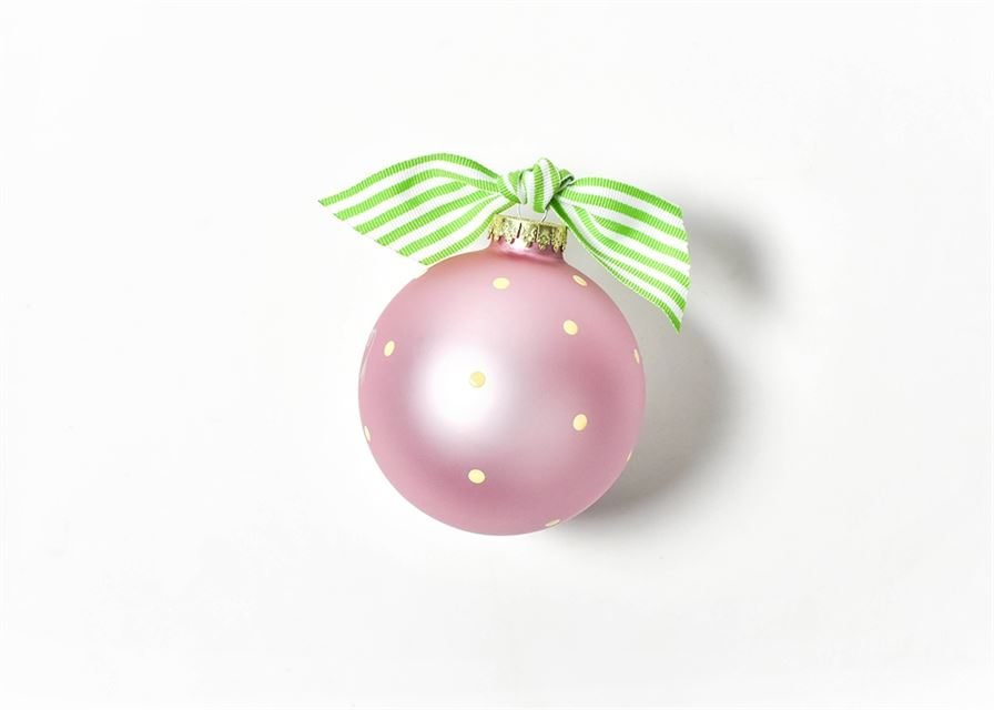 Elephant Pink Glass Ornament by Coton Colors
