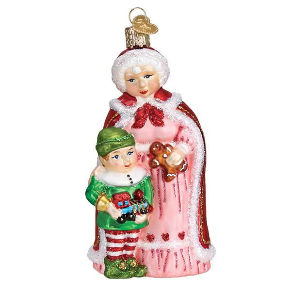 Mrs. Claus with Elf Ornament by Old World Christmas