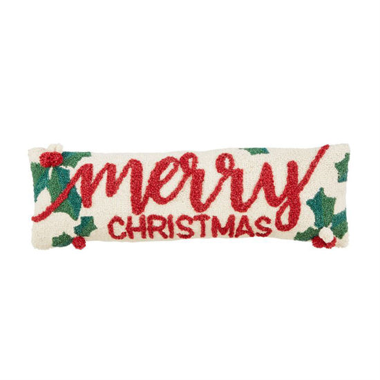 Holly Merry Xmas Pillow by Mudpie