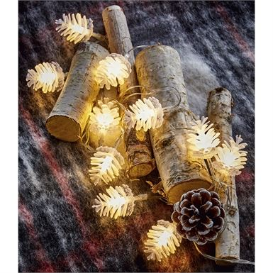 LED Pinecone Lights Set by TAG