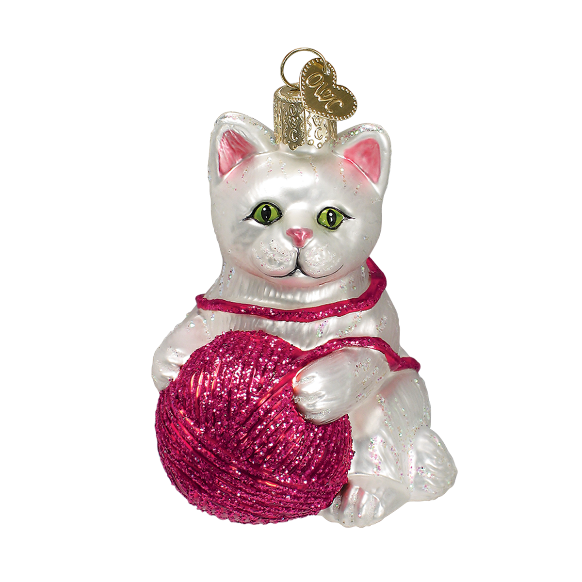 Playful Kitten Ornament (Assorted) by Old World Christmas