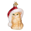 Santa's Kitten Ornament by Old World Christmas