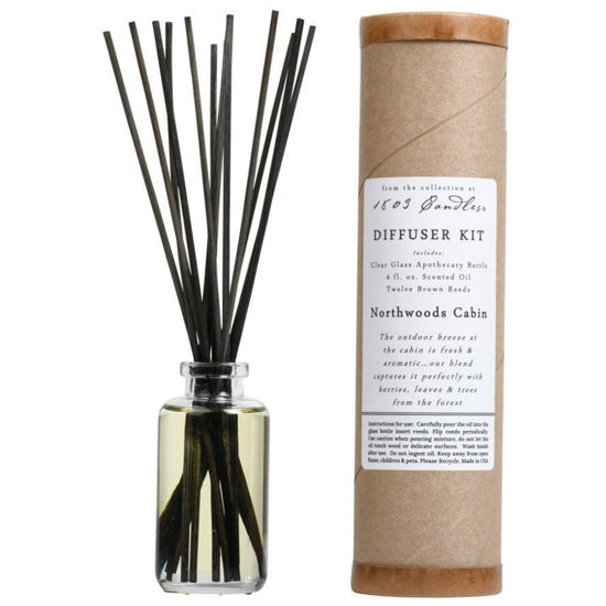 Northwoods Cabin Diffuser Kit  by 1803 Candles