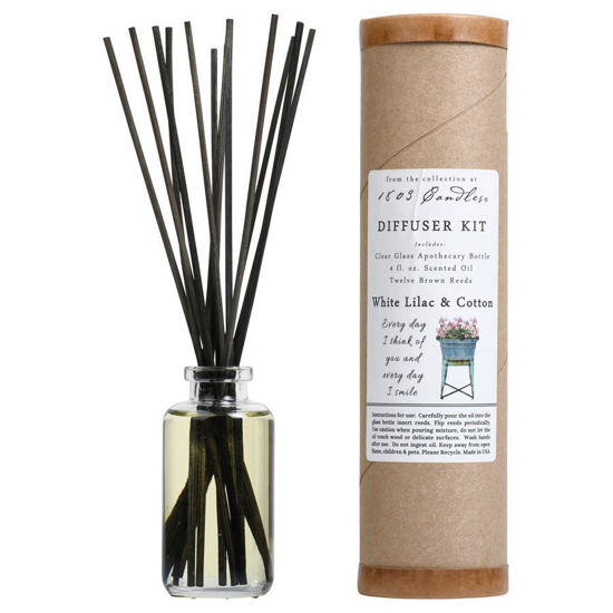 White Lilac & Cotton Diffuser Kit by 1803 Candles