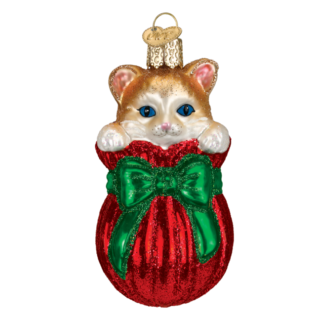 Letting the Cat Out of the Bag Ornament by Old World Christmas