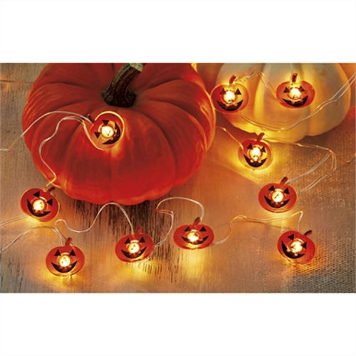 Pumpkin LED String Lights 20ct by TAG