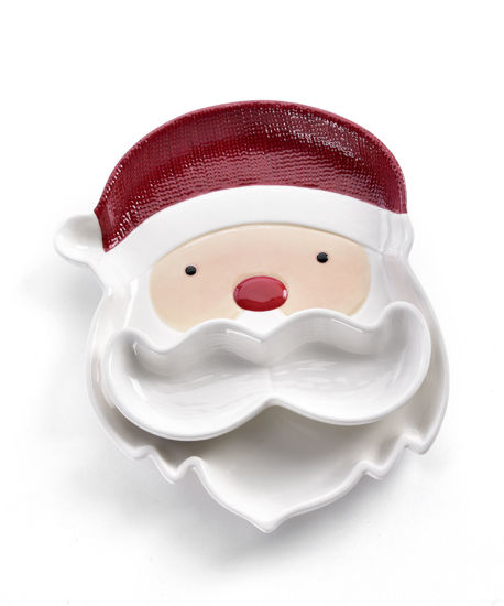 Santa Dip Plate Set by Giftcraft