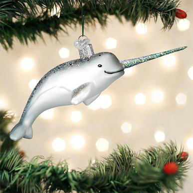 Narwhal Ornament by Old World Christmas