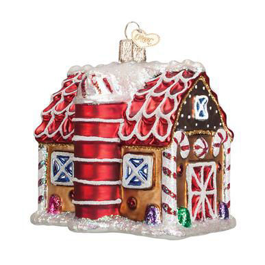 Gingerbread Barn Ornament by Old World Christmas