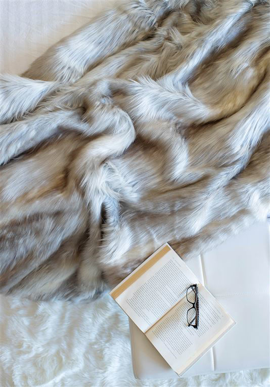Siberian Fox Faux Fur Throw by Donna Salyers Fabulous Furs