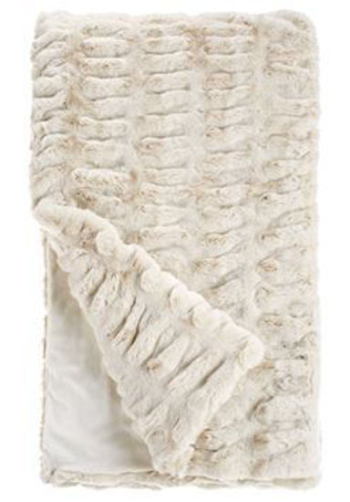 Ivory Mink Faux Fur Throw by Donna Salyers Fabulous Furs