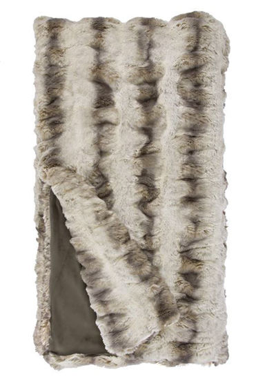 Truffle Chinchilla Faux Fur Throw by Donna Salyers Fabulous Furs