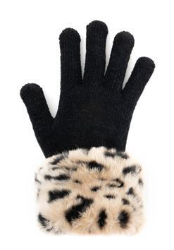 Faux Fur Trimmed Tech Gloves by Donna Salyers Fabulous Furs