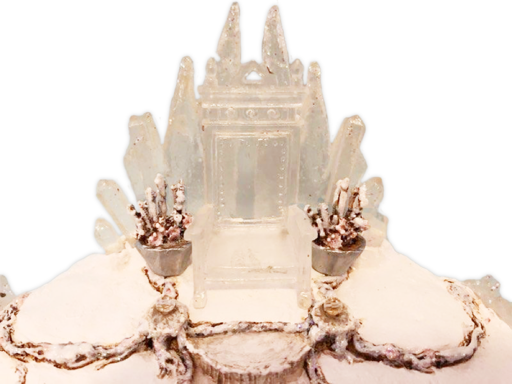 SOLD OUT - Ice Palace Throne Backdrop Base By Wee Forest Folk®