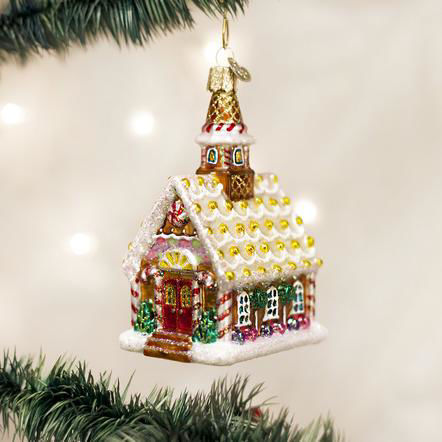 Gingerbread Church Ornament by Old World Christmas