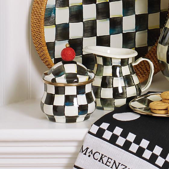 Courtly Check Enamel Lid Sugar Bowl by MacKenzie-Childs