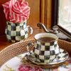 Courtly Check Enamel Mug by MacKenzie-Childs