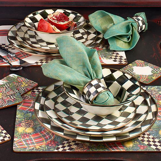 Courtly Check Enamel Breakfast Bowl by MacKenzie-Childs