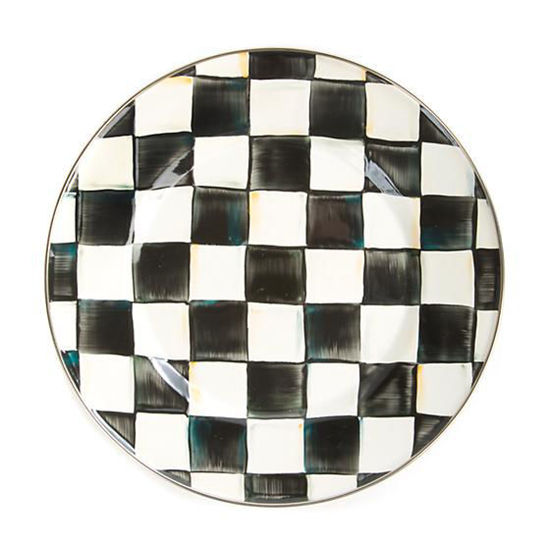Courtly Check Enamel Dinner Plate by MacKenzie-Childs