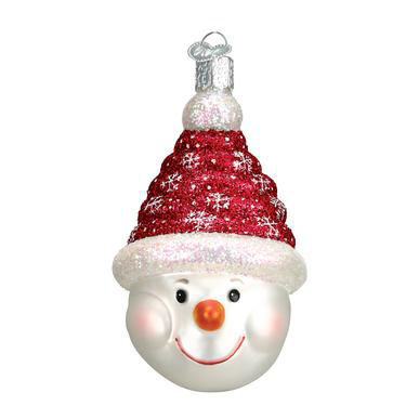 Glistening Candy Coil Snowman Ornament by Old World Christmas