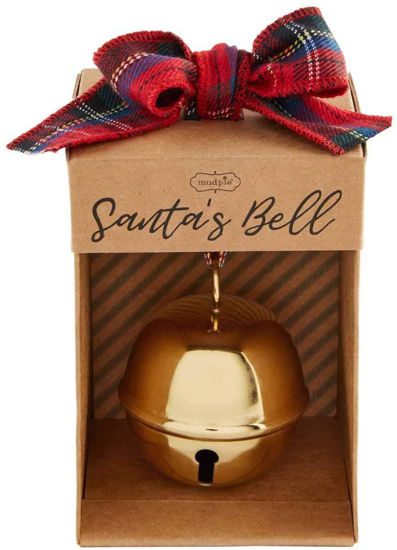 Gold Santa's Bell by Mudpie