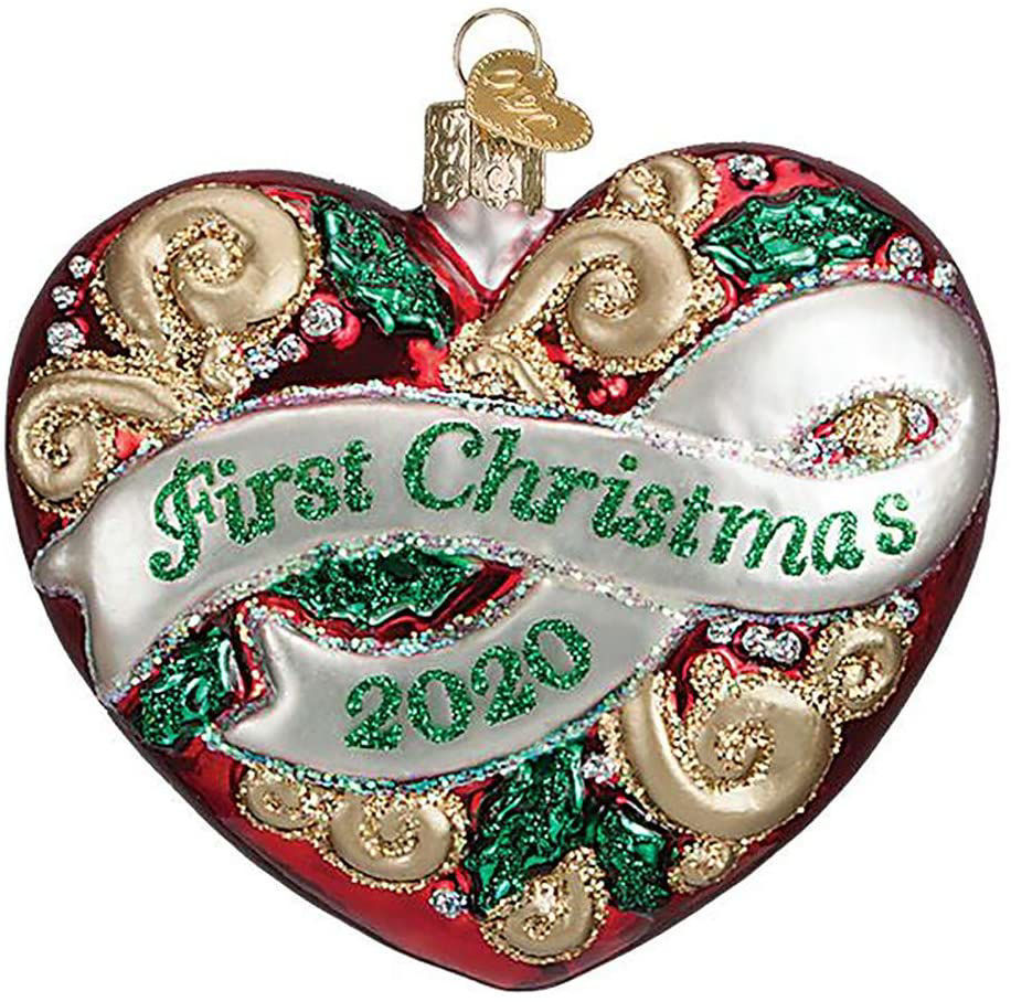 2020 First Christmas Heart Ornament by Old World Christmas