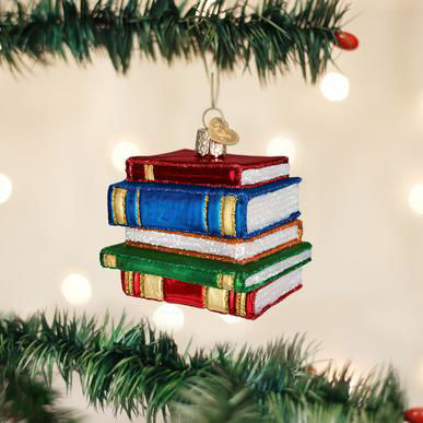 Stack of Books Ornament by Old World Christmas