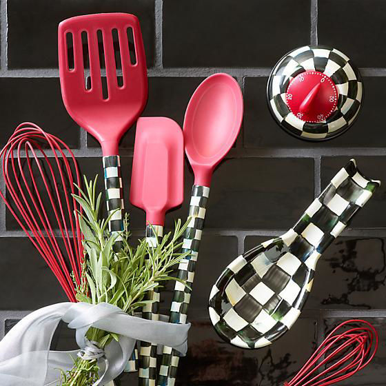 Courtly Check Spatula - Red by MacKenzie-Childs