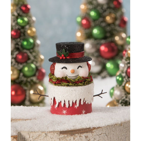 Happy Retro Snowman Box by Bethany Lowe